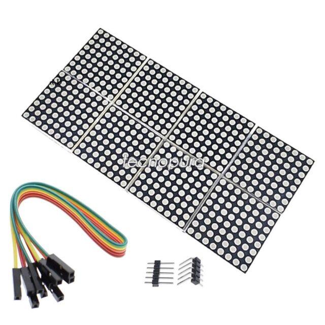 MATRIZ DE PUNTOS LED 32×16 CONTROLADOR MAX7219 – DISPLAY 8 EN 1 COMPATIBLE ARDUINO 📢¡Nuevo producto!  Matriz de 512 LED dispuestos en 16 filas y 32 columnas que se encuentran en ocho encapsulados sólidos de fibra de vidrio para protección de estos diodos. De fácil programación debido a que se usa el codificador MAX7219 compatible con plataforma Arduino o Microcontrolador PIC.  https://www.tecnopura.com/producto/matriz-de-puntos-led-32x16-controlador-max7219-display-8-en-1-compatible-arduino/