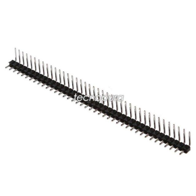 REGLETA CONECTOR MACHO-MACHO DE 40 PINES EN ANGULO DE 90° 📢¡Nuevo producto!  Conector de 40 pines macho-macho para montaje por presión con una longitud de 6mm en el lado más largo y 3mm en lado más corto. Cada pin está doblado en L y cuenta con la distancia estándar entre pines que es de 2.54mm.  https://www.tecnopura.com/producto/regleta-conector-macho-macho-de-40-pines-en-angulo-de-90/